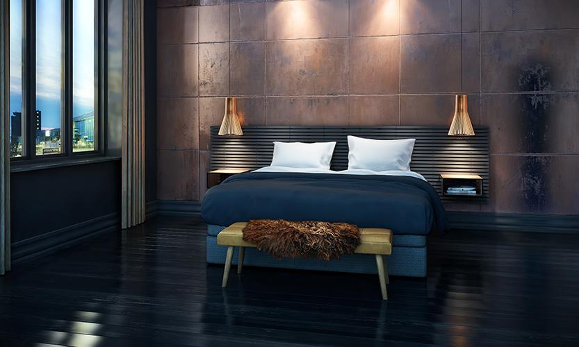 Wallume Bedroom 3D visualisering af Underdog Media