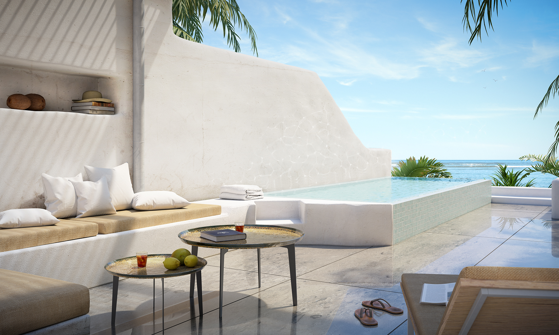 3D visualisering af sydhavs terrasse