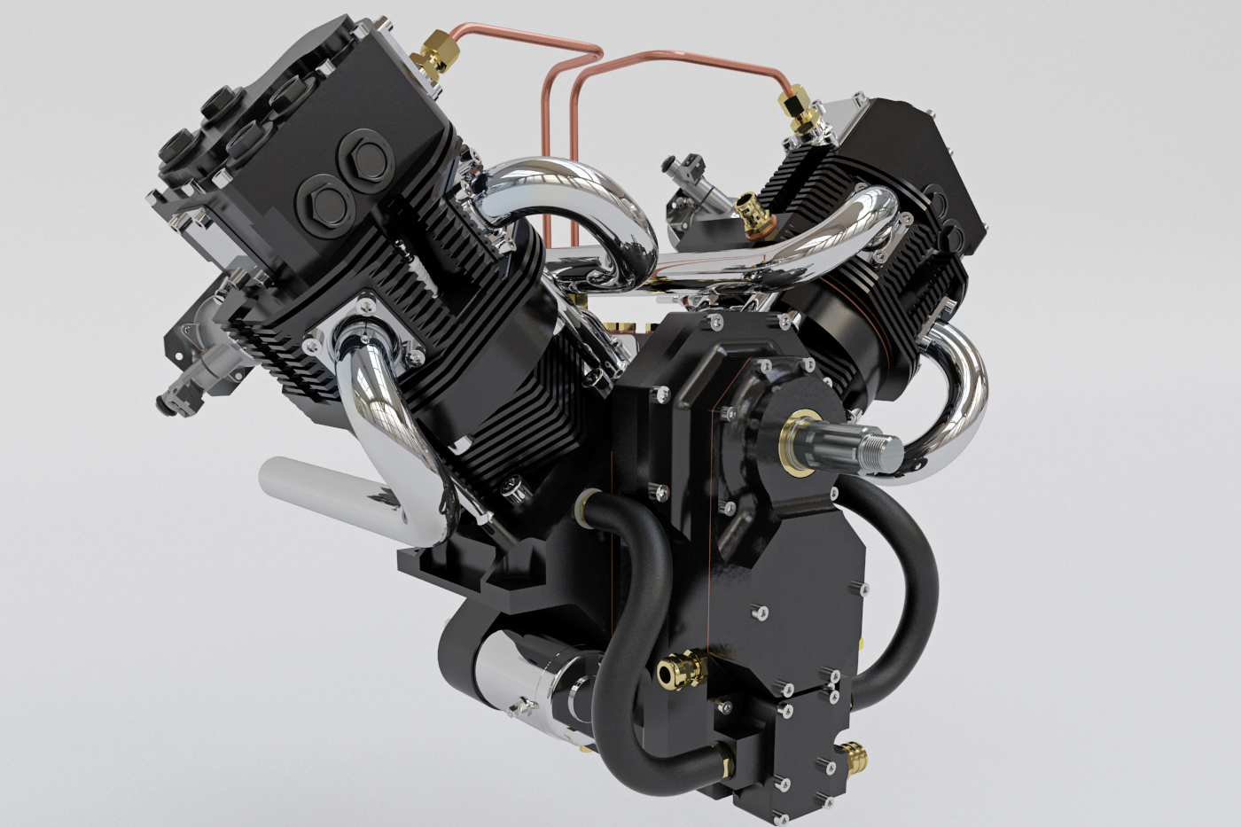 3D V8 Engine - 3d visualisering af Underdog Media