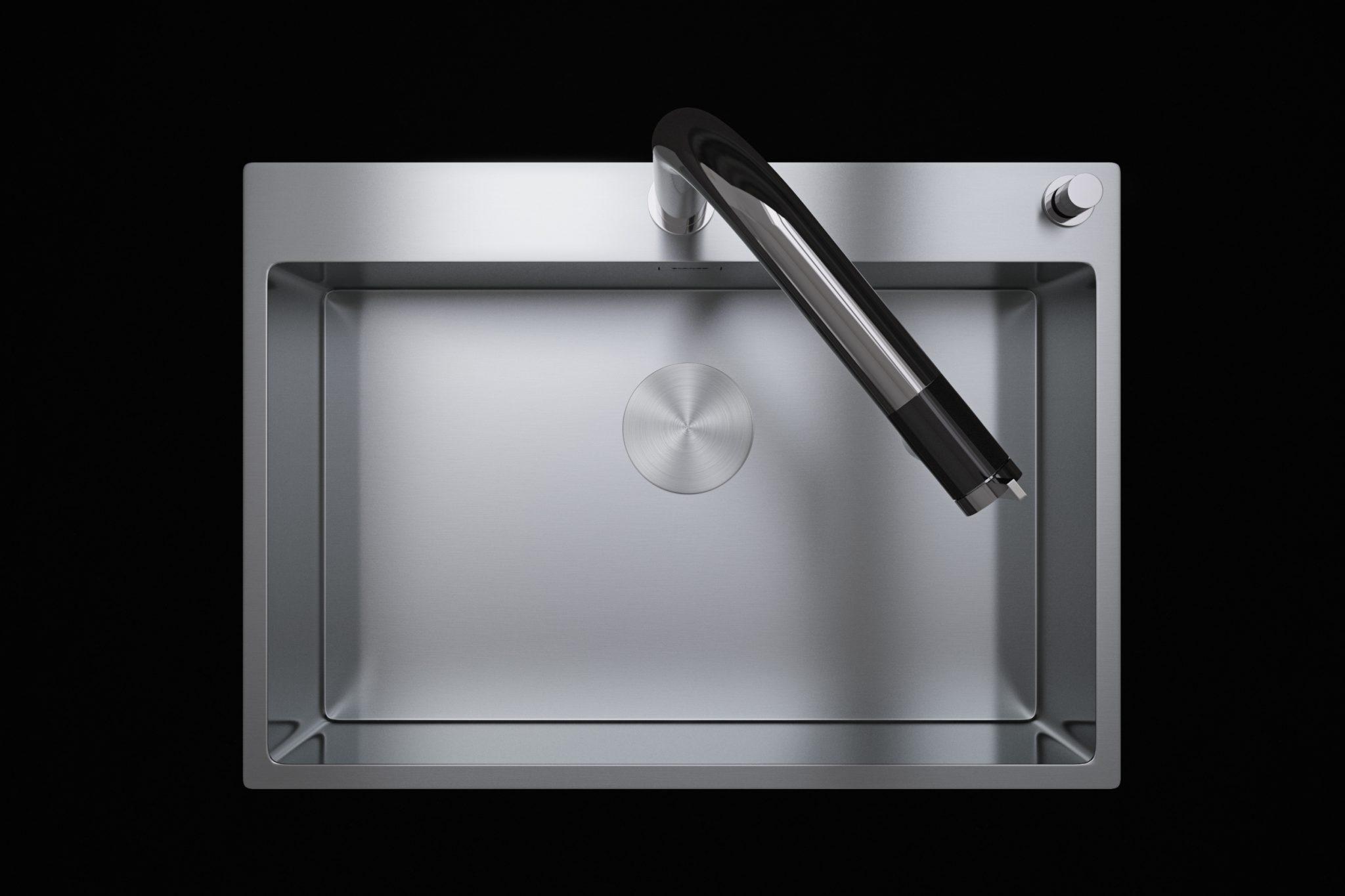 3D produkt visualisering af Blanco stålvask