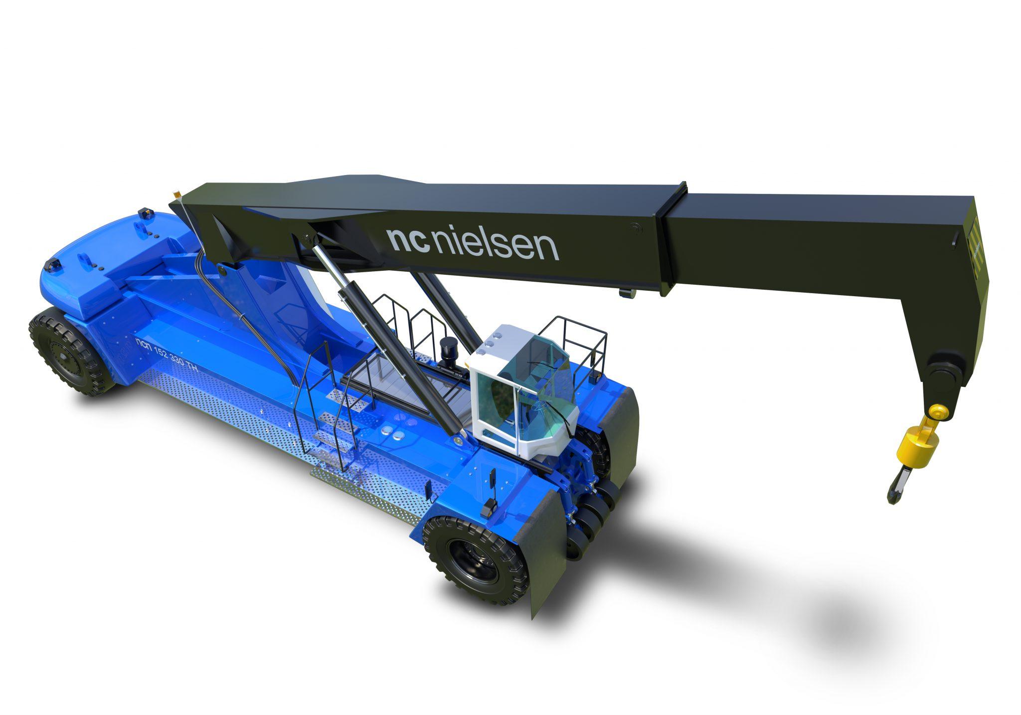 3D modelleret Reachstacker kran modelleret, visualiseret, animeret og klargjort til augmented reality i samarbejde med NC Nielsen
