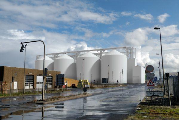 3d siloer på Fredericia havn