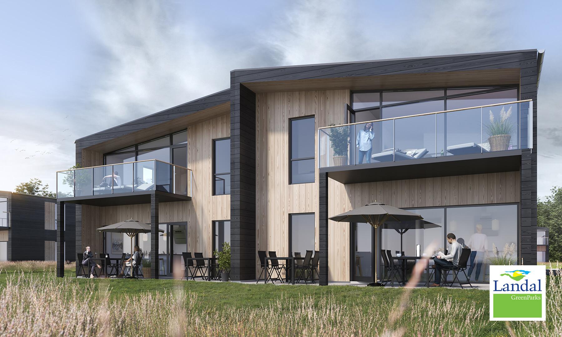 3D visualiserede Sommerhuse – Landal Feriecenter